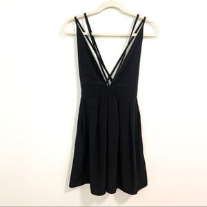 Oh My Love Black Strappy Going Out Dress S